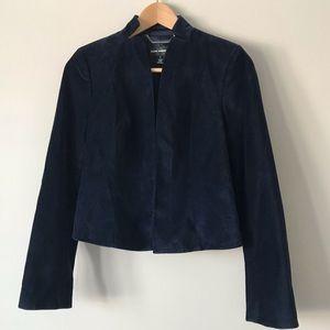 2/$30 Club Monaco navy blue velvet blazer